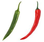 chili zielonego pieprzu czerwień Fotografia Royalty Free