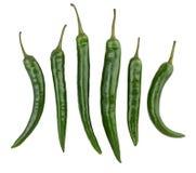 Chili zielony pieprz zdjęcia stock