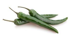 Chili zielony pieprz fotografia stock