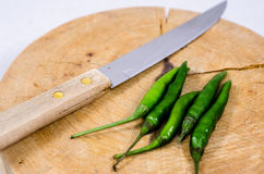 Chili zielony pieprz Fotografia Royalty Free