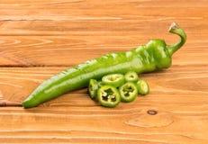 Chili zielony pieprz Zdjęcie Royalty Free