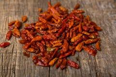 chilies высушили красный цвет Стоковая Фотография