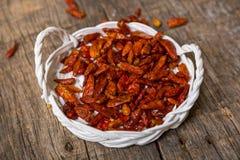chilies высушили красный цвет Стоковое Изображение RF