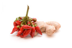 Chilies and ginger Stock Image