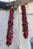 Chilies hanging outside Old Albuquerque stock image