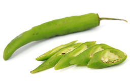 Chilies over white background Stock Photos