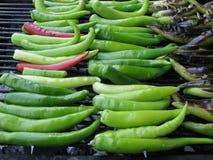 chilies piec na grillu Fotografia Royalty Free