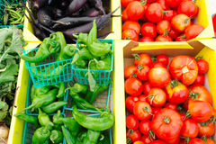 Chilies And Tomatoes Stock Photography