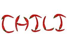 Chilies uttrycker thailändska chilies fotografering för bildbyråer