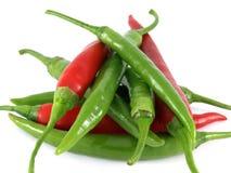 chilies zielenieją czerwień Fotografia Stock