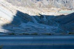 Chilijczyk Andes w pięknej krajobrazowej fotografii fotografia stock