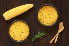 Chilijczyk Pastel De Choclo (Kukurydzany kulebiak) Zdjęcie Royalty Free