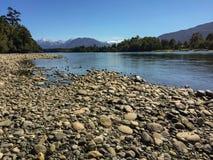 Chilijski patagonia krajobraz Obrazy Royalty Free