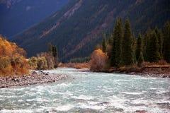 Chilik river in Kazakhstan Stock Image