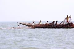 chilika rybaka hindusa jezioro Zdjęcie Stock