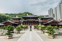 ChiLin Nunnery borggård Kowloon Hong Kong arkivfoton
