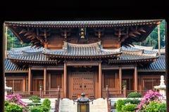 ChiLin Nunnery tempel i Nan Lian Garden, Hong Kong Arkivbild