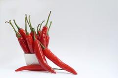 chilin pepprar red Arkivfoton