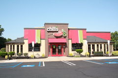 ChiliResturant ytterdörr Arkivbild