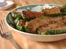 Chilis заполненные китайцем зеленые Стоковые Фото