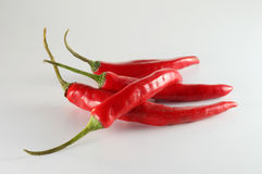 Chilis encarnados Imagem de Stock Royalty Free