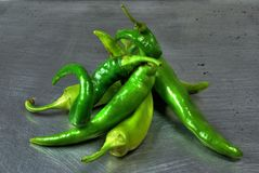 Chilis verdes Imagen de archivo libre de regalías