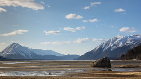 Chilkat Beach at low tide Royalty Free Stock Photos