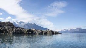 Chilkat-Einlass-Ansichten Lizenzfreies Stockfoto
