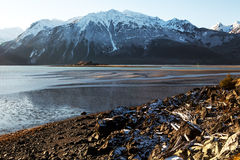 Chilkat Inlet Beach in early winter Stock Image