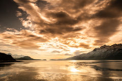Chilkat Inlet Sunset Stock Photo