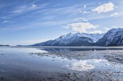 Chilkat Inlet tidal reflections Stock Image