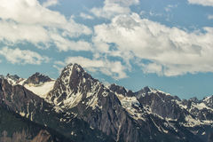 Chilkat range with clouds Royalty Free Stock Image
