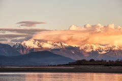 Chilkat range sunset Royalty Free Stock Photos