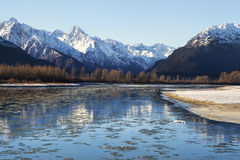 Chilkat River Freeze Up Royalty Free Stock Photography