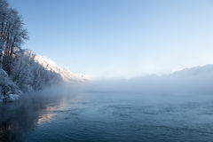 Chilkat River Mist Stock Photography