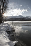 Chilkat River Sunset Stock Photography