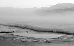 The Chilkat Valley under a covering of snow Stock Photography