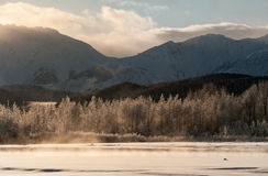 The Chilkat Valley under a covering of snow Royalty Free Stock Image