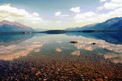 Chilko Lake in Canada stock images