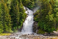Chilkoot siklawa Skagway Alaska obraz royalty free