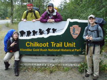 Chilkoot Trail Sign Royalty Free Stock Photos