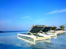 Chill взгляд бассейна на Пхукете Таиланде Стоковое Фото