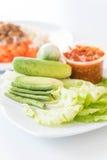 Chill соус при свежие установленные овощи Стоковые Фотографии RF