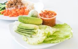 Chill соус при свежие установленные овощи Стоковое Изображение RF