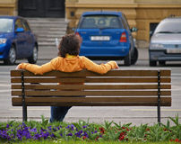 Chill Out. Young man enjoys Sathurday afternoon, Zagreb, Croatia Stock Image