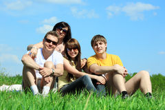 Chill out with family Royalty Free Stock Photo