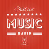 Chill Out Music Radio. Retro Poster for Chill Out Music Radio stock illustration