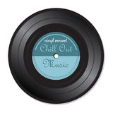 Chill out music vinyl record. Isolated vinyl record with the text chill out music written on the record royalty free illustration