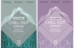 Chill out party.Poster template.Vector illustration Royalty Free Stock Images