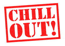 CHILL OUT!. Red Rubber Stamp over a white background royalty free illustration
